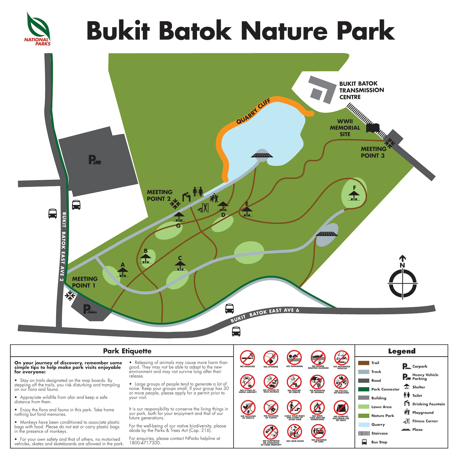Bukit Batok Nature Park Map Singapore